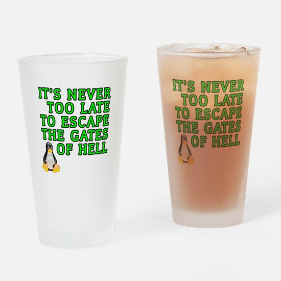 Escape the gates of hell - Drinking Glass