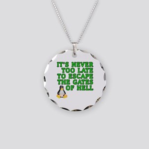 Escape the gates of hell - Necklace Circle Charm