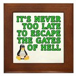 Escape the gates of hell - Framed Tile