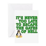 Escape the gates of hell - Greeting Card