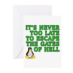 Escape the gates of hell - Greeting Cards (Pk of 1