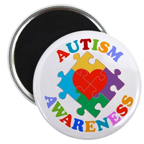 Autism Awareness Heart Magnet