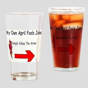 April Fools Joke Drinking Glass