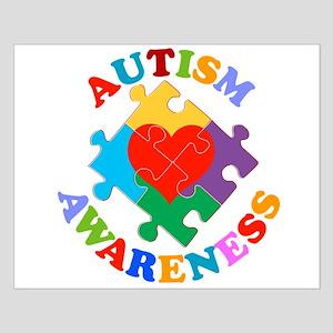 Autism Awareness Heart Small Poster