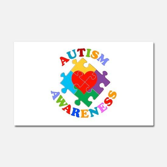 Autism Awareness Heart Car Magnet 20 x 12