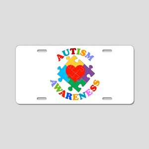 Autism Awareness Heart Aluminum License Plate
