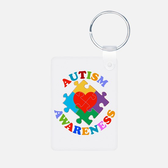 Autism Awareness Heart Keychains