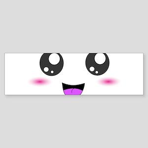 Happy Kawaii Smiley Face Sticker (Bumper)