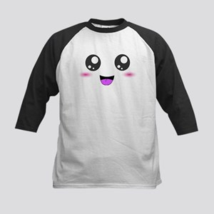 Happy Kawaii Smiley Face Kids Baseball Jersey
