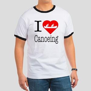 I Love Canoeing Ringer T