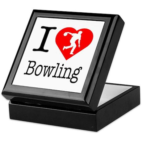 I Love Bowling Keepsake Box