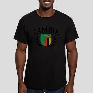 Zambia Men's Fitted T-Shirt (dark)