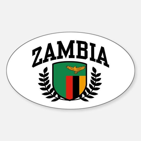 Zambia Sticker (Oval)