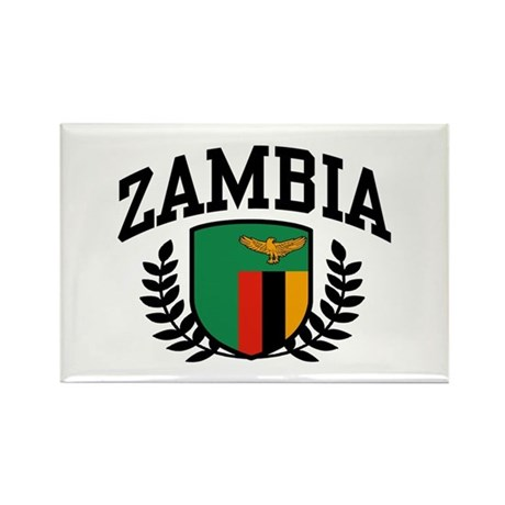Zambia Rectangle Magnet
