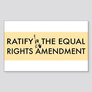 Equal Rights Amendment Sticker (Rectangle)