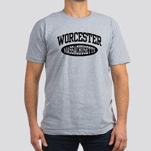 Worcester Massachusetts Men's Fitted T-Shirt (dark