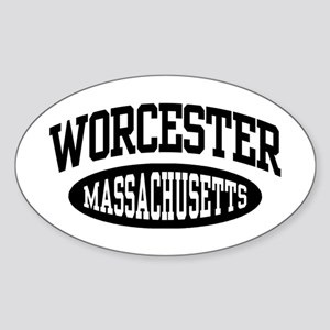 Worcester Massachusetts Sticker (Oval)