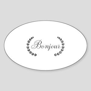 Bonjour Sticker (Oval)