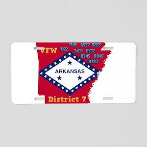 Arkansas VFW District 7 Log Aluminum License Plate