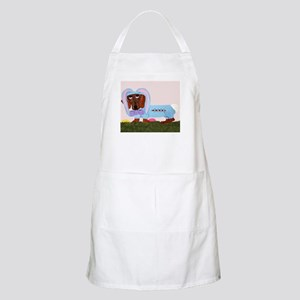 Dachshund In Blue Easter Bunn Apron