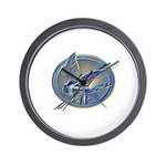 Silver Mockingjay Wall Clock