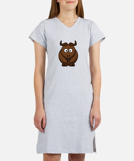 Cartoon Gnu Women's Nightshirt