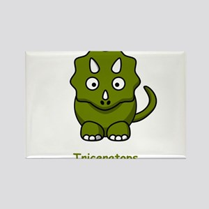 Cartoon Triceratops Rectangle Magnet (10 pack)