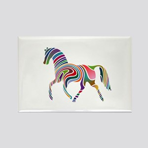 Horse Of Many Colors Rectangle Magnet (10 pack)