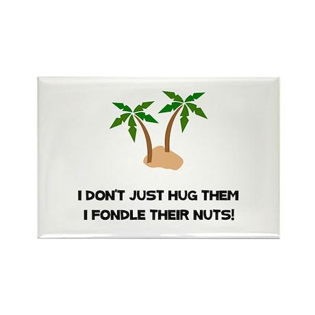 Tree Hug Nuts Rectangle Magnet (100 pack)