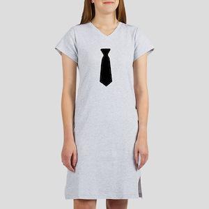 Black Neck Tie Women's Nightshirt