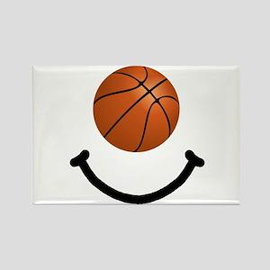 Basketball Smile Rectangle Magnet (10 pack)