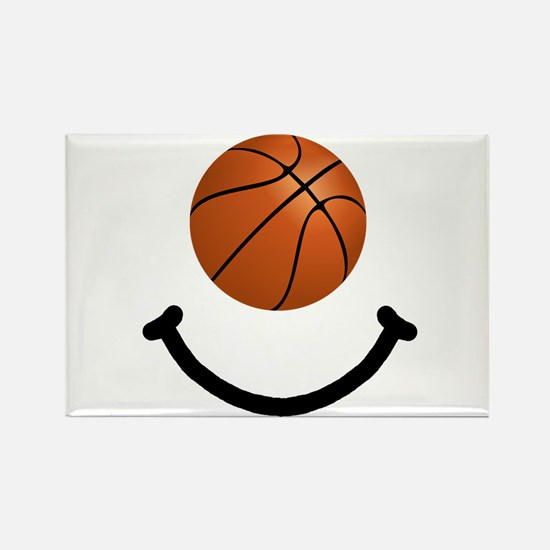 Basketball Smile Rectangle Magnet (10 pack)