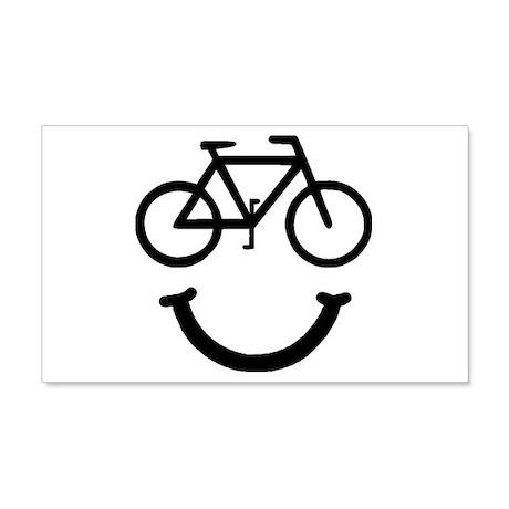 Bike Smile 22x14 Wall Peel