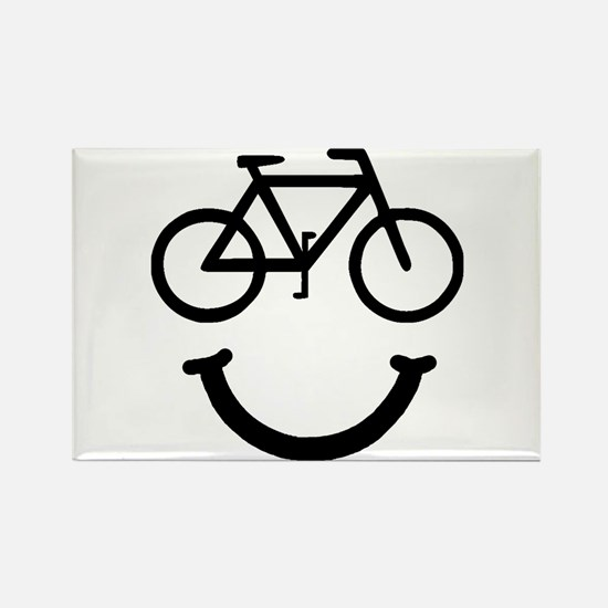 Bike Smile Rectangle Magnet (10 pack)