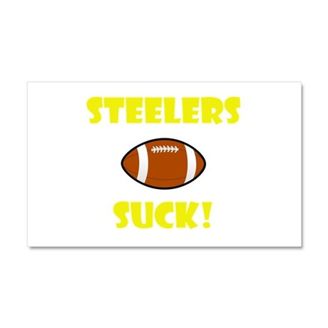 Steelers Suck Car Magnet 20 x 12