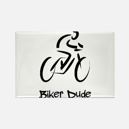 Biker Dude Rectangle Magnet (10 pack)