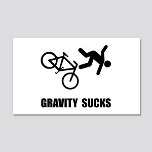 Gravity Sucks Bike 22x14 Wall Peel