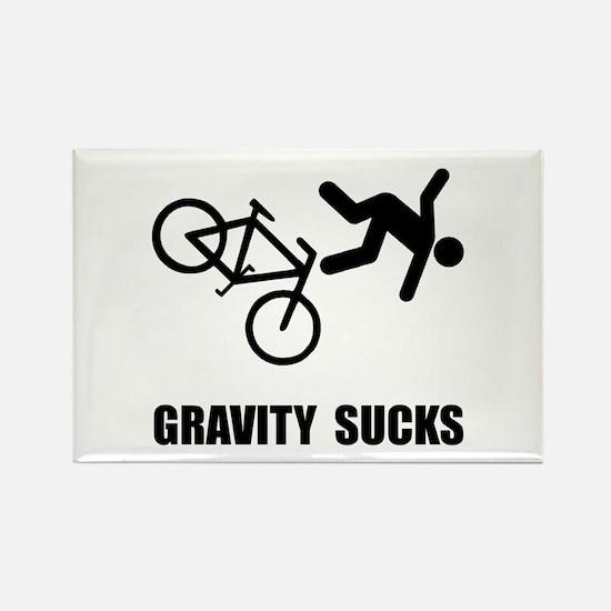 Gravity Sucks Bike Rectangle Magnet (10 pack)