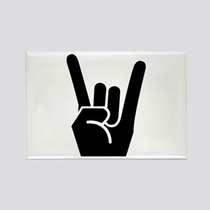 Rock Finger Symbol Rectangle Magnet (10 pack)
