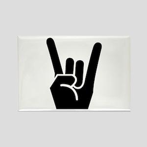 Rock Finger Symbol Rectangle Magnet (10 pack)