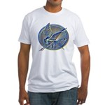 Silver Mockingjay Fitted T-Shirt