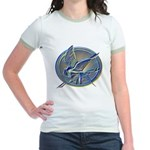 Silver Mockingjay Jr. Ringer T-Shirt