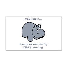 Not So Hungry Hippo 22x14 Wall Peel
