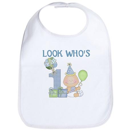 First Birthday Baby Boy Bib
