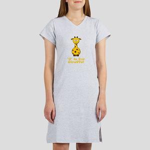 G is for Giraffe! Women's Nightshirt