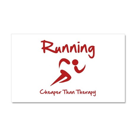 Running Cheaper Than Therapy! Car Magnet 20 x 12