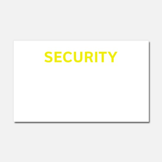 Security Car Magnet 20 x 12