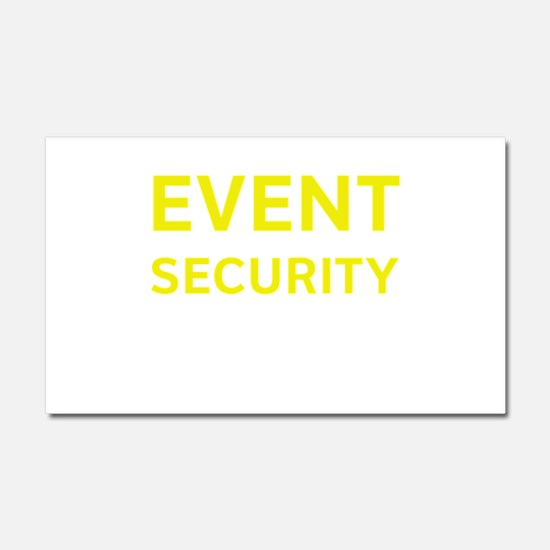 EVENT SECURITY Car Magnet 20 x 12