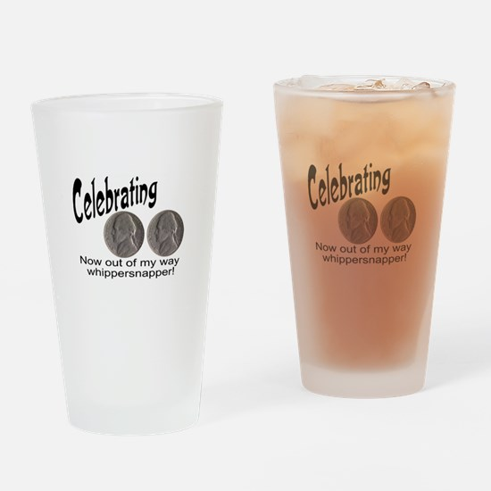 55 Birthday Whippersnapper Drinking Glass
