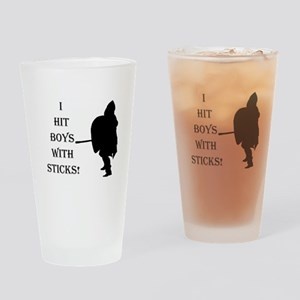 Fun For Female Fighters! Drinking Glass